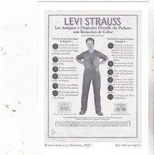 "*Postcard-""Spanish-Language Handbill, 1920's"" -CLASSIC-*Levi Strauss & Co.(#156)"