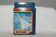 MATCHBOX SKYBUSTERS SB-23 SUPERSONIC AIRLINER G-BSAA, MINT BOXED