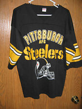 Pittsburgh Steelers Jersey Style GARAN AFC Black Yellow Large U.S.A. FREE SHIP