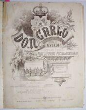 1870 12 SPARTITI MUSICALI ROBAUDI VERDI DON CARLOS RARO