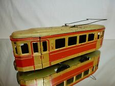 VINTAGE TIN TOY FRICTION GERMANY 599 TRAM No 1 - RED + CREAM L25.0cm - NICE