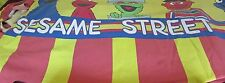 Vintage Sesame Street Fitted Twin Bedsheet Red Yellow Stripe Elmo Fabric Craft