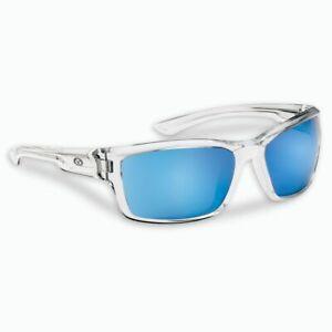 Flying Fisherman 7721CSB Sunglasses Cove Crystal Smoke Blue Mirror