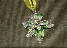 GREEN FLOWER NECKLACE, CHRISTMAS, BIRTHDAY, AND MORE