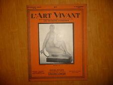 L'ART VIVANT Numéro 93 du 1 Novembre 1928 Maillol, Nu.
