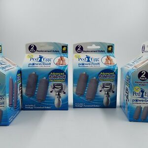 NIB 8 Pack Replacement Rollers for PedEgg Powerball Rechargeable Callus Remover