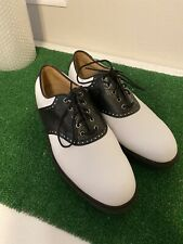 Footjoy Golf FJ Golf Icon Golf Shoes NICE CLEAN Mens 9.5 Black/White