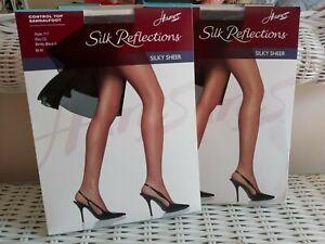 Control Top Hosiery. Hanes Silk Reflections. Size CD, Black. CD Sissy GIrl