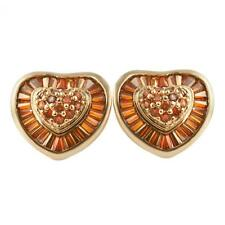 Heart Love Baguette Xl Rose Gold Cz Bling Bling Earrings Iced Out Ear Jewelry