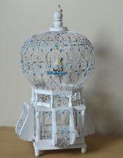 Jolie cage a oiseaux vintage métal et bois  déco mariage  authentique vintage