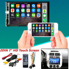"""2 DIN 7"""" HD Car Stereo Radio MP5 Player Bluetooth Touch Screen & Rear Camera"""