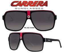 CARRERA 33/S 08V4WJ Black/Red/White Grey Sunglasses New & Authentic