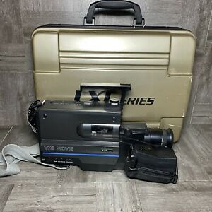 Lxi series Vhs Movie Camera unit black vintage with cords Not Tested