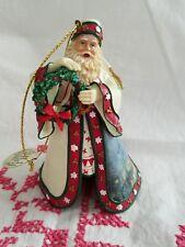 Thomas Kinkade Christmas Journey'S End Santa Ornament~Ashton Drake Old World