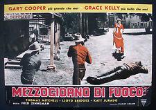 CINEMA-fotobusta MEZZOGIORNO DI FUOCO cooper, kelly, FRED ZINNEMAN