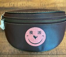 NWT Coach Leather Belt Bag Fanny Pack Rexy By Yeti Out Smiley Face 73938
