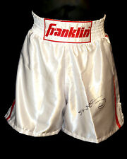 *New* Sugar Ray Leonard Signed Franklin Custom Made Replica Boxing Trunks