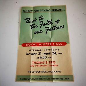 Original 1948 Target For Saving Britain Brexit Poster!