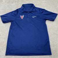 "Nike Dri Fit Polo Short Sleeve Shirt Men's Size Small Blue"""