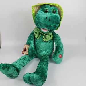 PBC 1967 Chantilly Lane Musicals Louie Frog Plush Sings What A Wonderful World