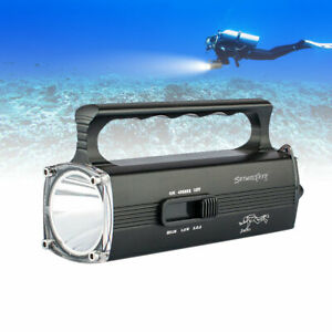 200000LM LED Flashlight Super Bright Lamp Underwater Diving Built-in Torch RC