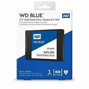 """Western Digital 1TB WD Blue 3D NAND Internal PC SSD - SATA III 6 Gb/s, 2.5""""/7mm"""