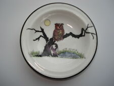 C1920S MELBA BONE CHINA SMALL DISH WITH PICTURE OF OWL ON A MOONLIT TREE BRANCH