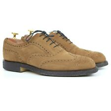Cheaney 'Hampstead' Tan Brown Suede Brogues UK 7.5 F