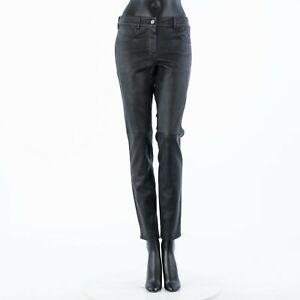 GIVENCHY 2200$ Skinny Pants Trousers In Black Nappa Leather