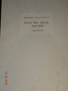 KAA 1000 Active Rod Aerial, Equipment documentation,  RFT/ Funkwerk Köpenick