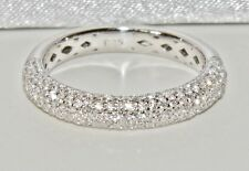 Sterling Silver (925) 3.75mm Stone Set Fancy Eternity / Wedding Band Ring size P