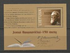Lithuania Litauen MNH 2001 Mi 779 block 24 Sc 709 150th birth Jonas Basanavicius