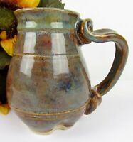Beautiful STUDIO ART Pottery Drip Glazed Glazing Ceramic Stoneware Mug ~ SIGNED