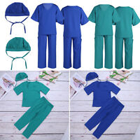 Children's Kids Boys Girls Surgeon Doctor Uniform Fancy Dress Up Costume Outfits