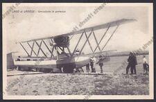 VARESE CITTÀ 247 IDROVOLANTE IDROPLANO SEAPLANE - LAGO Cartolina viagg 10 5 1930