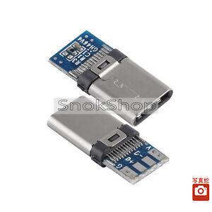 5x Usb-C / Typ-C Schlecht Welding Host Connector With Blau PCB Board USB