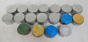 178 Mardi Gras Doubloons Coins 70s 80s 7Up Krewe Rex Army Air Force Small World