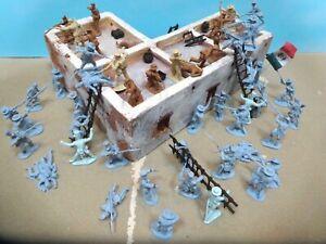 Conte collectables 54mm Alamo custom diorama attack scene 52 figs+ 2002 usedoop