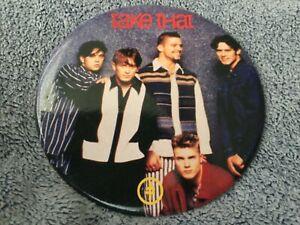TAKE THAT Large Giant Badge (1993) official licensed product. Photo Badge