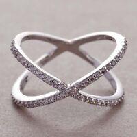 Fashion Woman  Lady 925 Silver White Sapphire Ring Wedding Bridal Jewelry Sz5-12
