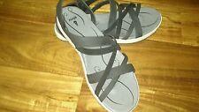 Ahnu suede sandals black, size 8, womans