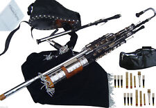 Irish Uilleann Pipes Full Set Blackwood Bagpipes Made By Hakam Din & Sons