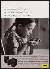 Nikon N80 camera print ad 2002 Girl with butterfly