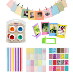 For Fujifilm Instax Mini 8 9 Photo Film Stickers + Filters + Picture Frame US