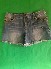 INC Denim Short with Colored Beads - Womens Size 10