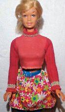 BARBIE DOLL, BLONDE  BLUE  EYES, HEAD TURNS & TILTS, IN  TOP & JEANS,&a B.Skirt