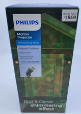 NEW PHILIPS RED / GREEN Shimmering Effect Motion Projector INDOOR/OUTDOOR Light