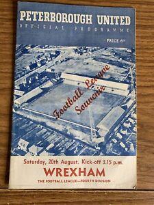 Souvenir Edition Vintage Football Programme. Peterborough v Wrexham  1960.Div 4