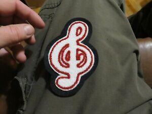 Music Choir Patch Felt Chenille Letterman Jacket High School Red White Black