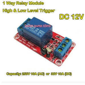 DC 12V  High & Low Level 1-Way Relay Trigger Optocoupler Isolated Switch Board